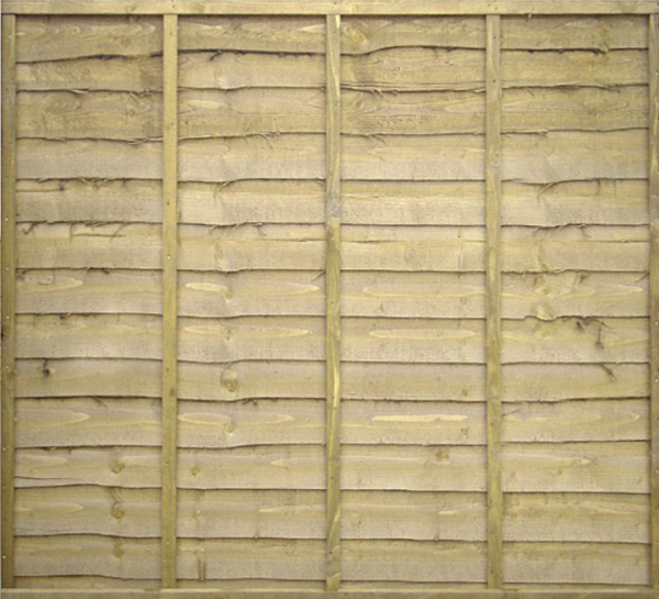 overlap-fence-panel wooden fence